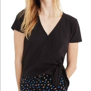 Madewell Texture & Thread Wrap Tie Top